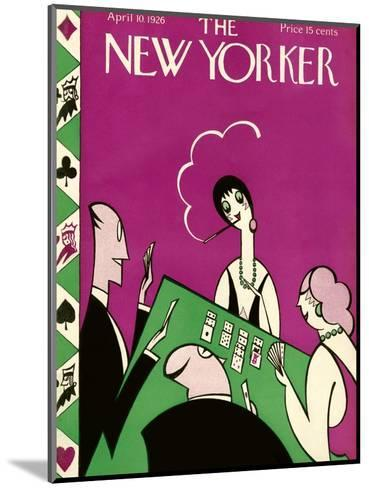 The New Yorker Cover - April 10, 1926-H.O. Hofman-Mounted Premium Giclee Print