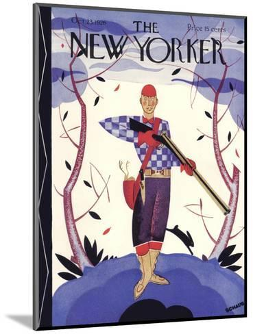 The New Yorker Cover - October 23, 1926-Andre De Schaub-Mounted Premium Giclee Print