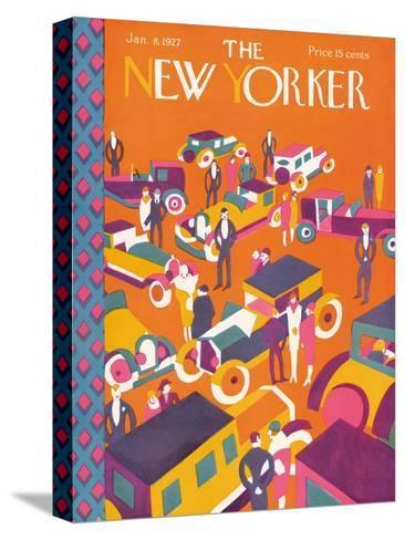 The New Yorker Cover - January 8, 1927-Ilonka Karasz-Stretched Canvas Print