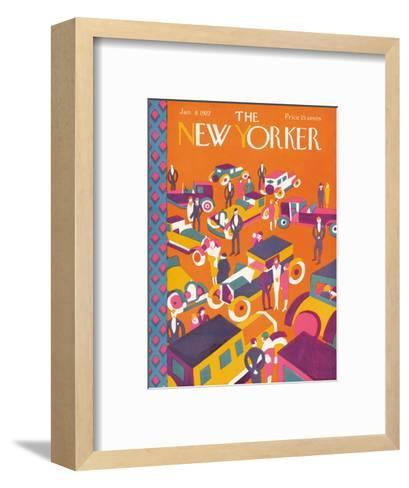 The New Yorker Cover - January 8, 1927-Ilonka Karasz-Framed Art Print