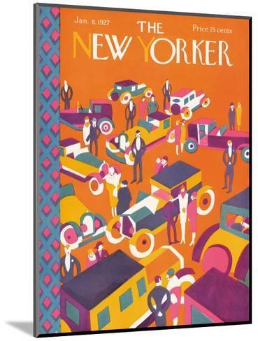 The New Yorker Cover - January 8, 1927-Ilonka Karasz-Mounted Premium Giclee Print