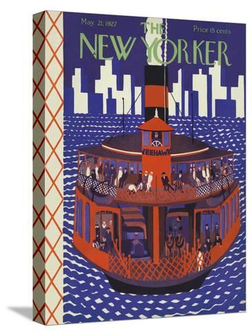 The New Yorker Cover - May 21, 1927-Ilonka Karasz-Stretched Canvas Print