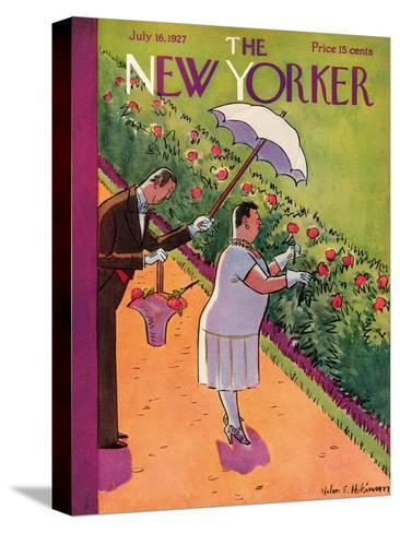 The New Yorker Cover - July 16, 1927-Helen E. Hokinson-Stretched Canvas Print