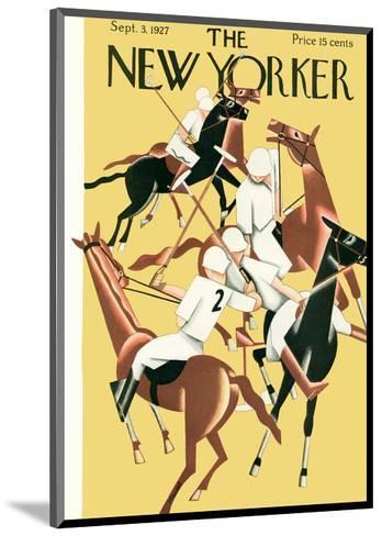 The New Yorker Cover - September 3, 1927-Theodore G. Haupt-Mounted Premium Giclee Print