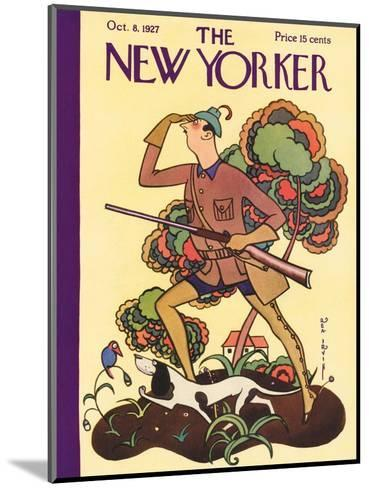 The New Yorker Cover - October 8, 1927-Rea Irvin-Mounted Premium Giclee Print
