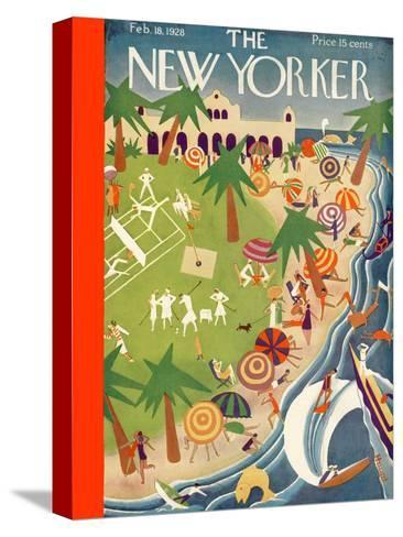 The New Yorker Cover - February 18, 1928-Theodore G. Haupt-Stretched Canvas Print
