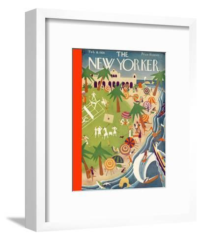 The New Yorker Cover - February 18, 1928-Theodore G. Haupt-Framed Art Print