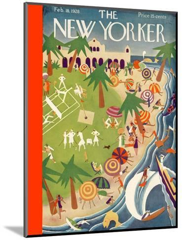 The New Yorker Cover - February 18, 1928-Theodore G. Haupt-Mounted Premium Giclee Print