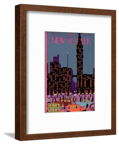 The New Yorker Cover - March 2, 1929-Adolph K. Kronengold-Framed Art Print