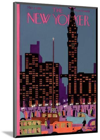 The New Yorker Cover - March 2, 1929-Adolph K. Kronengold-Mounted Premium Giclee Print