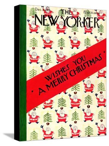 The New Yorker Cover - December 21, 1929-Rea Irvin-Stretched Canvas Print