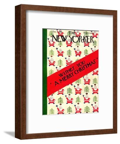 The New Yorker Cover - December 21, 1929-Rea Irvin-Framed Art Print