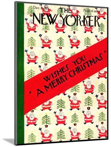 The New Yorker Cover - December 21, 1929-Rea Irvin-Mounted Premium Giclee Print