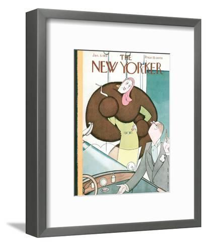 The New Yorker Cover - January 3, 1931-Rea Irvin-Framed Art Print