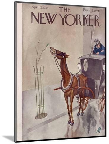 The New Yorker Cover - April 2, 1932-Julian de Miskey-Mounted Premium Giclee Print