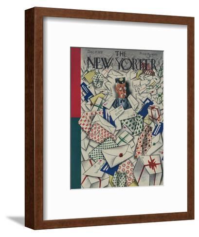 The New Yorker Cover - December 17, 1932-Harry Brown-Framed Art Print