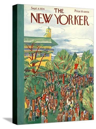 The New Yorker Cover - September 8, 1934-Ilonka Karasz-Stretched Canvas Print