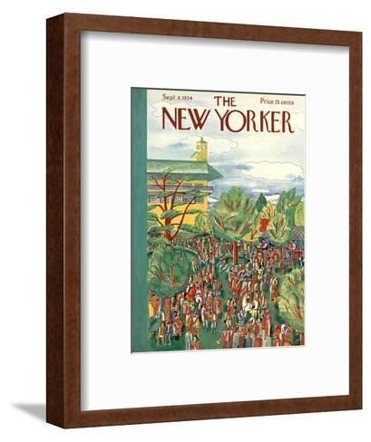 The New Yorker Cover - September 8, 1934-Ilonka Karasz-Framed Art Print