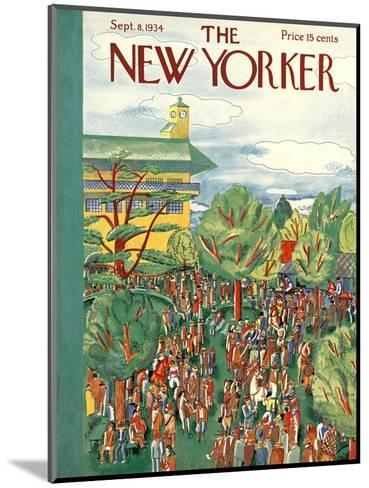 The New Yorker Cover - September 8, 1934-Ilonka Karasz-Mounted Premium Giclee Print