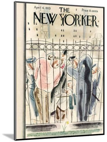 The New Yorker Cover - April 6, 1935-Leonard Dove-Mounted Premium Giclee Print