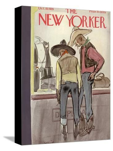 The New Yorker Cover - October 19, 1935-William Galbraith Crawford-Stretched Canvas Print