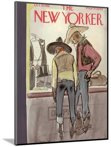 The New Yorker Cover - October 19, 1935-William Galbraith Crawford-Mounted Premium Giclee Print