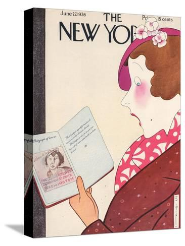 The New Yorker Cover - June 27, 1936-Rea Irvin-Stretched Canvas Print