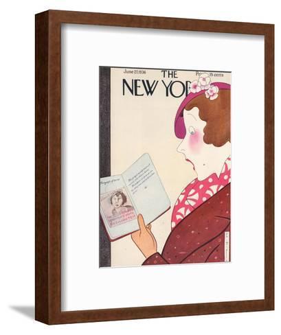 The New Yorker Cover - June 27, 1936-Rea Irvin-Framed Art Print