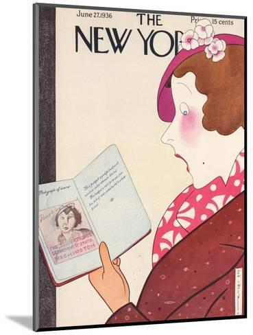 The New Yorker Cover - June 27, 1936-Rea Irvin-Mounted Premium Giclee Print