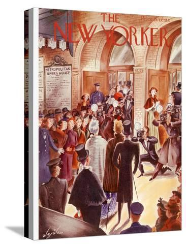 The New Yorker Cover - December 4, 1937-Constantin Alajalov-Stretched Canvas Print