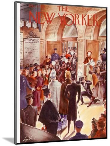 The New Yorker Cover - December 4, 1937-Constantin Alajalov-Mounted Premium Giclee Print