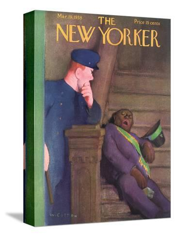The New Yorker Cover - March 19, 1938-William Cotton-Stretched Canvas Print
