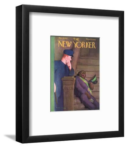 The New Yorker Cover - March 19, 1938-William Cotton-Framed Art Print