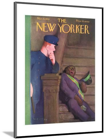 The New Yorker Cover - March 19, 1938-William Cotton-Mounted Premium Giclee Print