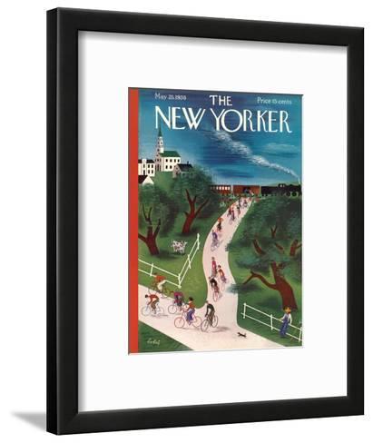 The New Yorker Cover - May 28, 1938-Victor Bobritsky-Framed Art Print