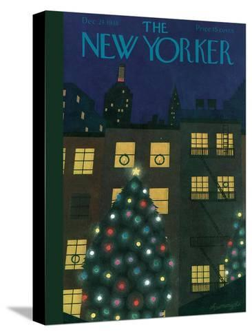 The New Yorker Cover - December 24, 1938-Adolph K. Kronengold-Stretched Canvas Print