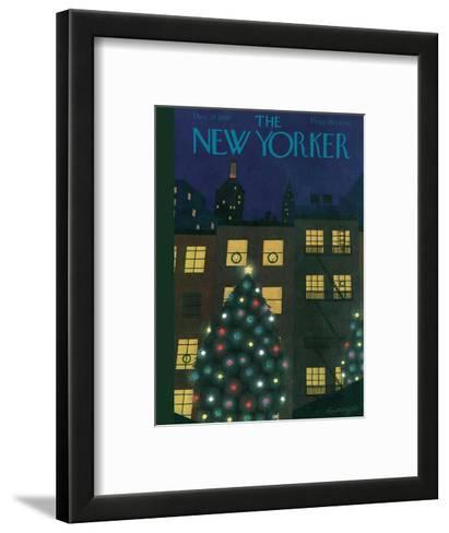 The New Yorker Cover - December 24, 1938-Adolph K. Kronengold-Framed Art Print