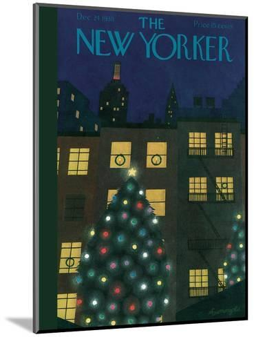 The New Yorker Cover - December 24, 1938-Adolph K. Kronengold-Mounted Premium Giclee Print