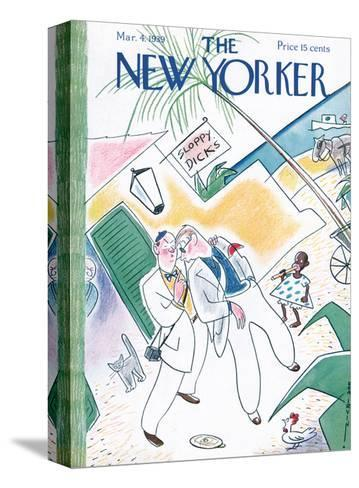 The New Yorker Cover - March 4, 1939-Rea Irvin-Stretched Canvas Print