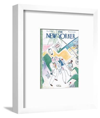 The New Yorker Cover - March 4, 1939-Rea Irvin-Framed Art Print