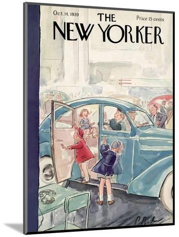 The New Yorker Cover - October 14, 1939-Perry Barlow-Mounted Premium Giclee Print