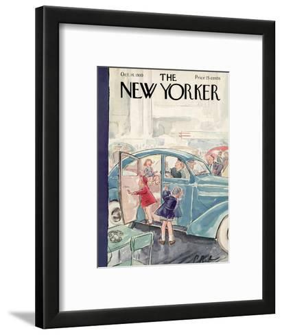 The New Yorker Cover - October 14, 1939-Perry Barlow-Framed Art Print