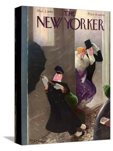 The New Yorker Cover - March 2, 1940-William Cotton-Stretched Canvas Print