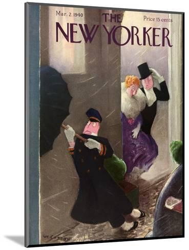 The New Yorker Cover - March 2, 1940-William Cotton-Mounted Premium Giclee Print