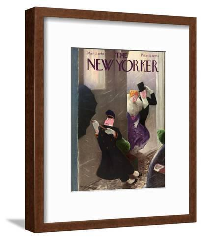 The New Yorker Cover - March 2, 1940-William Cotton-Framed Art Print