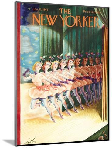 The New Yorker Cover - January 17, 1942-Constantin Alajalov-Mounted Premium Giclee Print