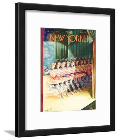 The New Yorker Cover - January 17, 1942-Constantin Alajalov-Framed Art Print