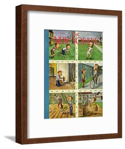 The New Yorker Cover - April 25, 1942-William Steig-Framed Art Print