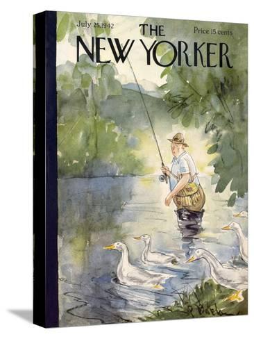 The New Yorker Cover - July 25, 1942-Perry Barlow-Stretched Canvas Print