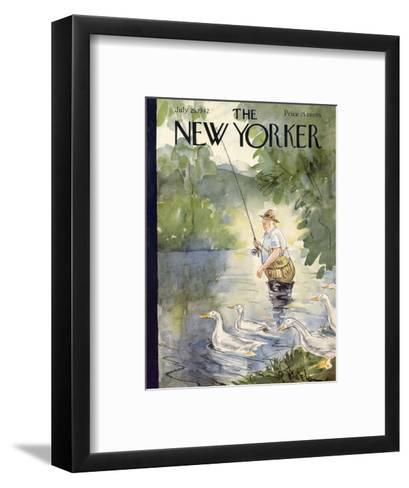 The New Yorker Cover - July 25, 1942-Perry Barlow-Framed Art Print